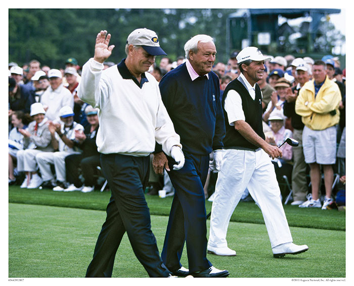 Jack Nicklaus, Arnold Palmer and Gary Player, 2001