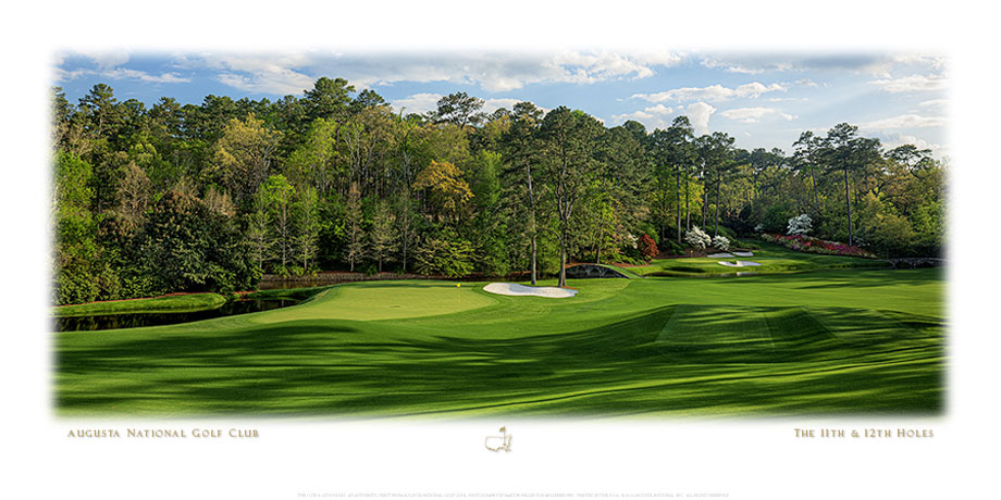 The 11th & 12th Hole Panorama Fine Art Print