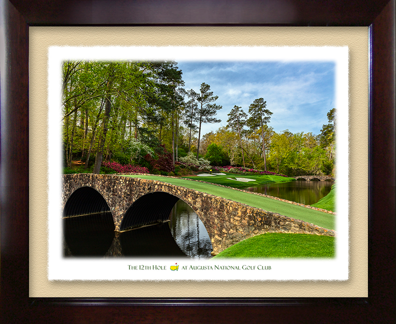 The 12th Hole – Deckle Edged Framed Print
