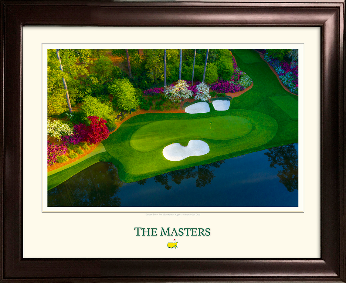 The 12th Green From Above - Framed Print