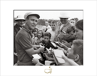 Arnold Palmer Signing Autographs, 1964 - Matted Version