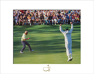 Jack Nicklaus Eagle on No. 15, 1986 - Matted Version