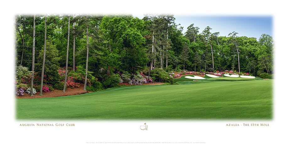 Masters Shop - The 13th Hole Panorama Fine Art Print